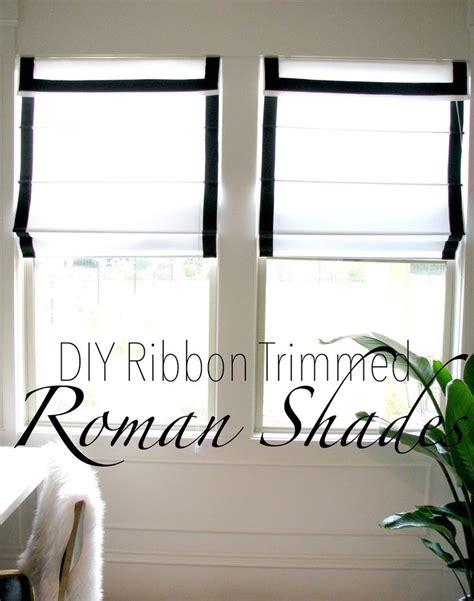 roman curtains diy life love larson look for less challenge diy ribbon