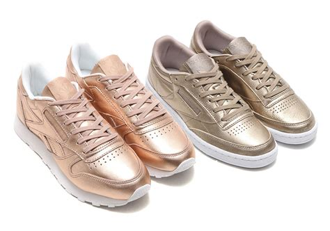 Reebok Classic Gold by Reebok Club C Classic Leather Metallic Gold Sneakernews