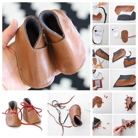 How To Make Handmade Baby Shoes - wonderful diy adorable baby leather shoes