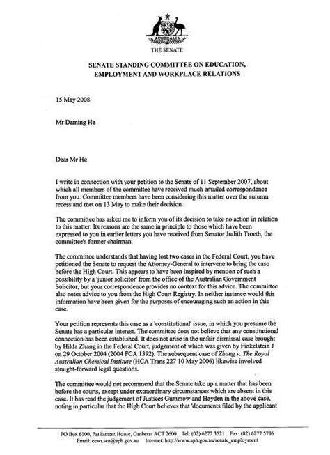 Response Letter To Unfair Dismissal Upholding S Right