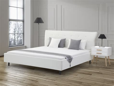 Lit En 180x200 by Lit Design En Cuir Lit 180x200 Cm Blanc