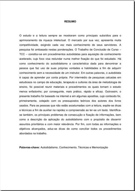 Resumo em língua vernácula
