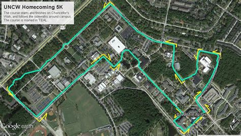 uncw map uncw college of arts and sciences homecoming 5k february 4 2017 nc race timing and running