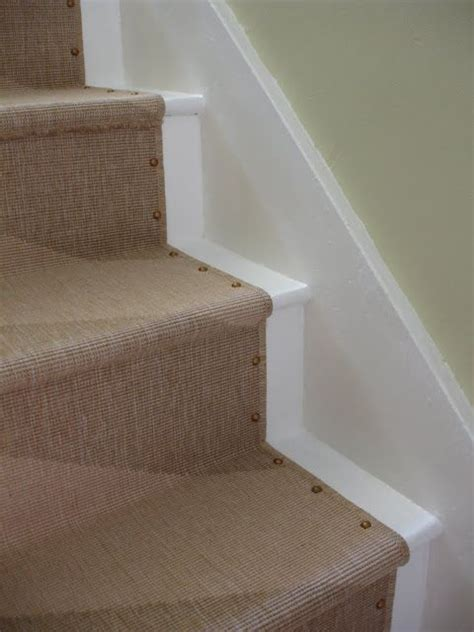 brass tacks ikea stair runner loft cottage apartment therapy install a stair runner i like these decorative nails
