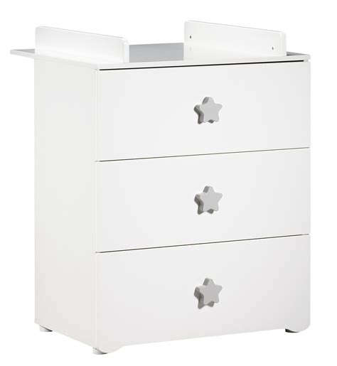 Poignee Commode Enfant by Commode 224 Langer 3 Tiroirs Bouton 201 Toile Gris Basic Baby
