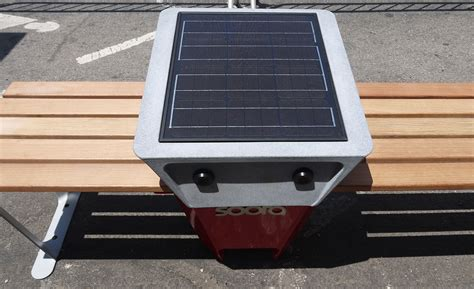 solar bench five solar powered charging benches to be installed in nyc
