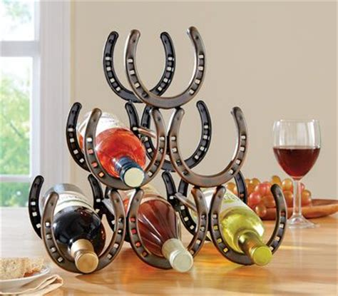 Wine Racks Made Out Of Horseshoes by 17 Best Ideas About Horseshoe Wine Rack On