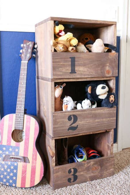 ana white diy stacking storage cubbies featuring