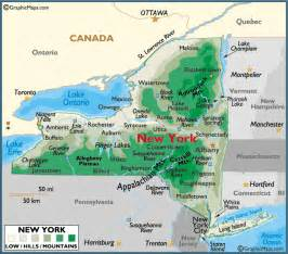 us map new york state map of new york large color map