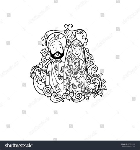 Wedding Vector Indian by Indian Wedding Doodle Illustration Stock Vektor