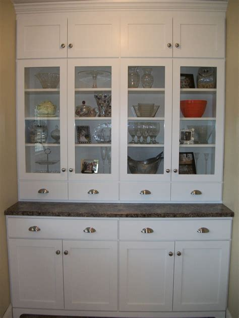 Kitchen: Kitchen Hutch Cabinets   Antique Hutch With Glass Doors   Narrow Buffet Table
