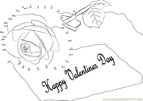 pink happy valentines day dot to dot printable
