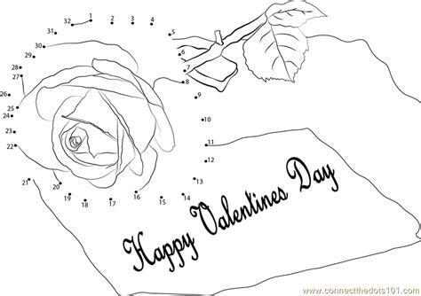 printable valentine dot to dot pink rose happy valentines day dot to dot printable