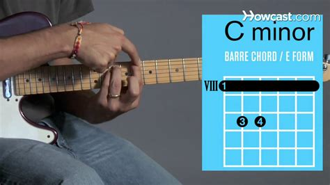 C Minor how to play a c minor barre chord guitar lessons