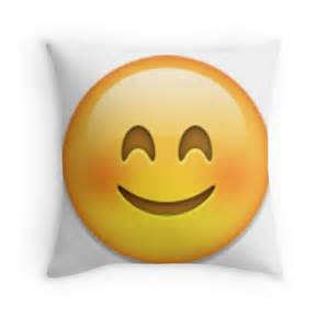 Most Comfortable Duvet Cover Quot Blushing Emoji Quot Throw Pillows By Janetgonzalez Redbubble