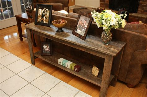 zoom room cbell barnwood sofa table by cbell lumberjocks woodworking community