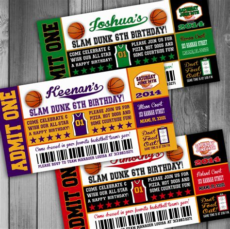 Nba Themed Party Invitation Ideas Decorating Of Party Nba Ticket Template
