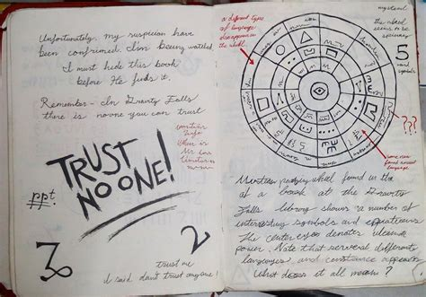 printable journal pages gravity falls gravity falls journal 3 replica trust no one by leoflynn