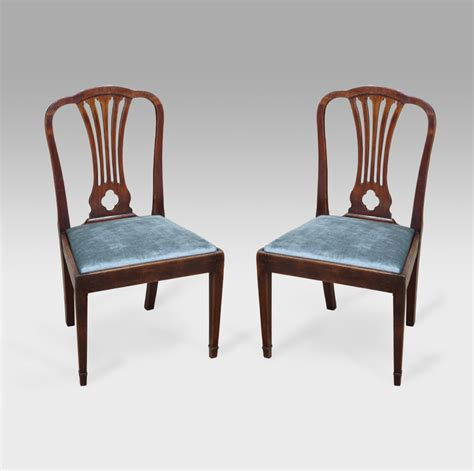 Pair Of Georgian Dining Chairs Antique Chairs Uk Pair Of Dining Chairs