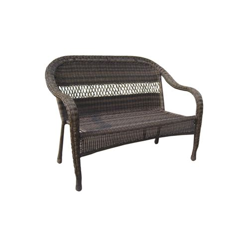Wicker Patio Bench by Garden Treasures Severson Wicker Patio Chair Bench At