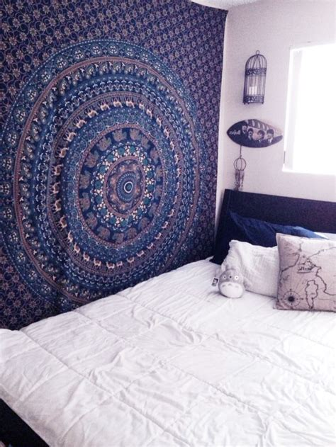 Tapestry Bedroom by Blue Bohemian Indian Hippie Mandala Wall Tapestry