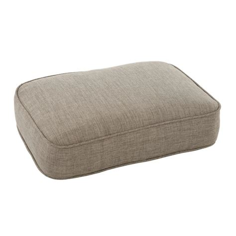 patio ottoman cushions martha stewart living lily bay lake adela wheat