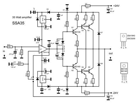 transistor njw0281 2sc5200 2sa1943 lifier circuit diagram circuit diagram images