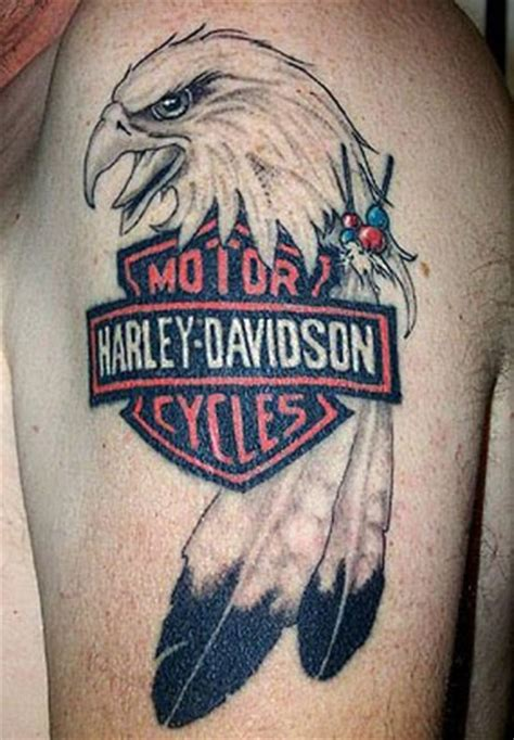 harley davidson eagle tattoo gallery biker motorcycle tattoos page 2