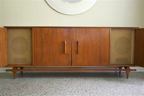 mid century media console mid century media console vintage 1950s stereo