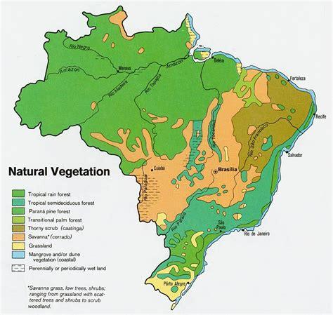 geographical map of brazil vegetation map of brazil 1977