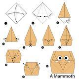 Origami Elephant Step By Step - step step how to make origami elephant stock