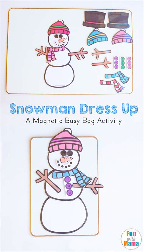 Snowman Dress Up Busy Bag Fun With Mama | snowman dress up busy bag fun with mama