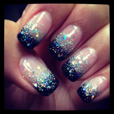 beautiful nail designs for women in their 40 best 20 black glitter nails ideas on pinterest black