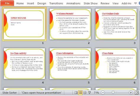 open house powerpoint template classroom open house powerpoint template