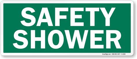 safety shower emergency green sign sku s 4238