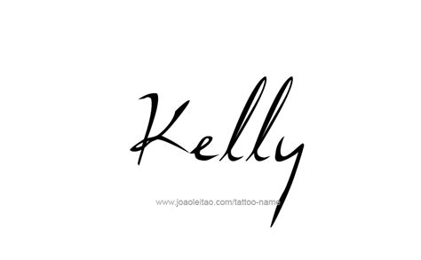 kelly name tattoo designs