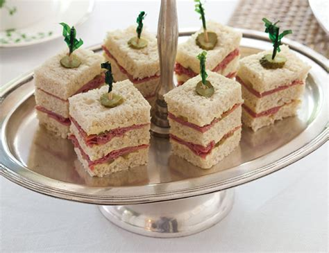 corned beef tea sandwiches with mustard butter teatime