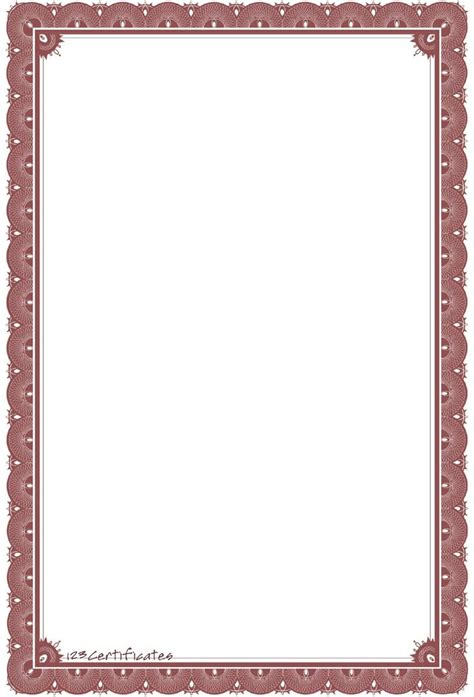 certificate borders templates background templates formal certificate borders to