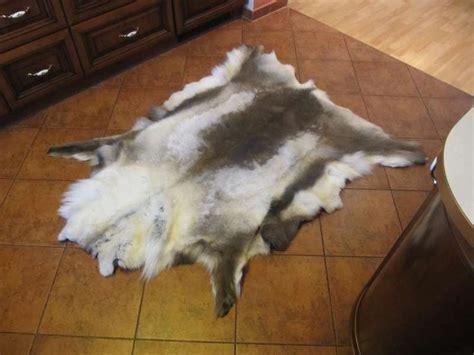 faux reindeer rug genuine reindeer skin hide rug highest quality grade 1 ebay