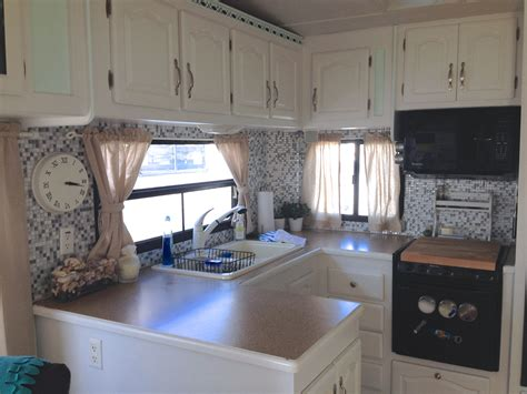 Cheap Renovation Ideas For Kitchen by Renovating Our 5th Wheel Camper A Diy Follow The High