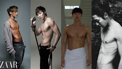 hot body korean boy band 9 korean stars with the hottest post military abs soompi
