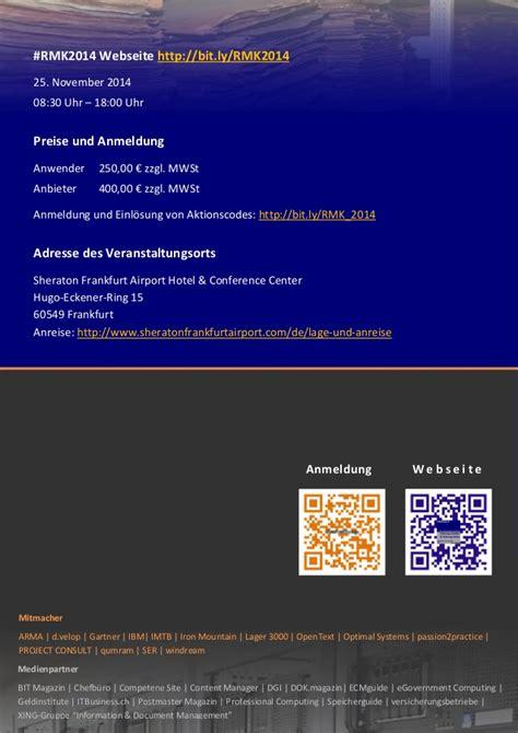 seriöser anbieter schweizer kredit de records management konferenz 2014 rmk2014 brosch 252 re