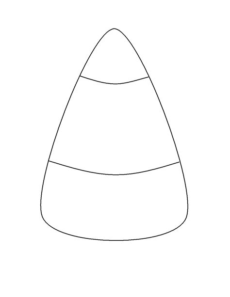 6 best images of candy corn template printable candy
