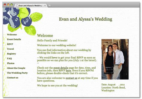 Wedding Website Homepage Wording