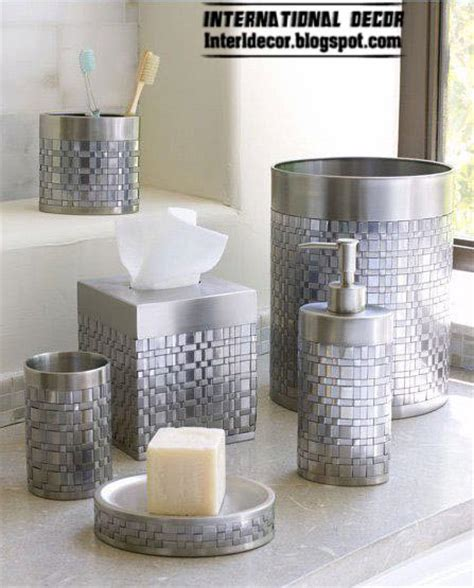 stylish bathroom accessories sets colors pieces