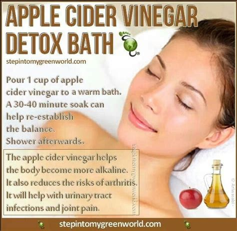 10 Minute Cold Detox Bath by Soak Your In Apple Cider Vinegar And You Will