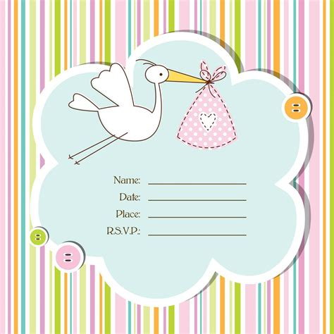 baby shower printable card template baby shower invitations cards designs baby shower