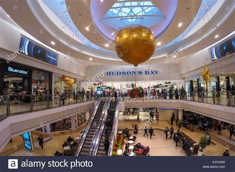 hudson lights shopping center escalators decorations in shopping stock photos