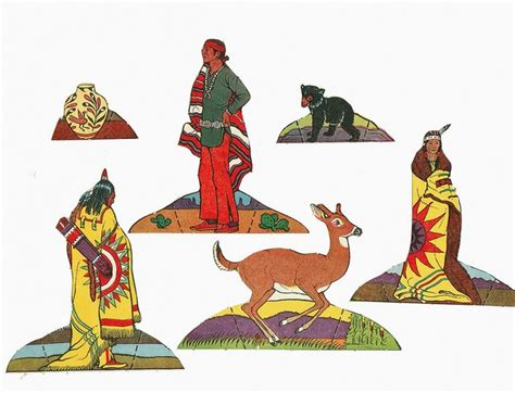 Native American Paper Doll Template