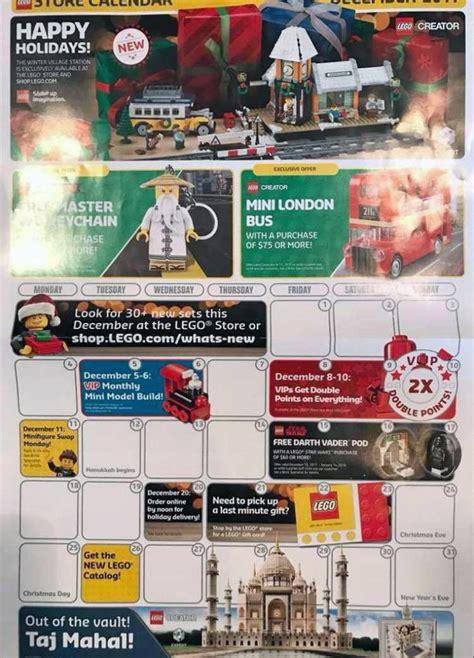 lego store calendar december 2017 brickfinder lego wars darth vader pod revealed